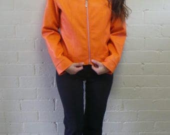 Orange Juice Biker Jacket