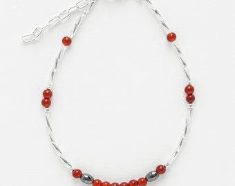 Ankle Bracelet Cornelian
