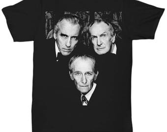 Christopher Lee Vincent Price and Peter Cushing Dracula Vampire Cult Movie Horror Classic  shirt Tee T-shirt  S - 5XL  Black