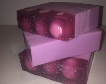 Raspberry bubblegum soap, scented soap, moisturizing soap, handmade soap, shea butter soap, gift for friend, gift for her, gift idea, soap