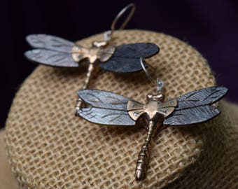Dragonfly Earrings, Dragonfly Jewelry ,Abalone Shell, Whimsical Earrings, Goddess Earrings, Mothers day Gift