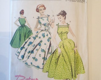 Butterick Retro Vintage Dress Pattern, 1957 Reissue Pattern, 1950s Sewing Pattern, Vintage Sewing Pattern, Size 6 Pattern, Vintage Patterns