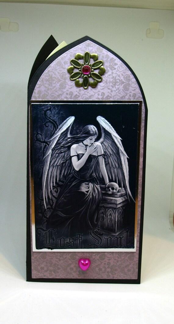 Gothic Arch Birthday Card - birthday luxury personalised unique quality special vampire twilight fantasy UK handmade
