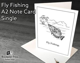 Fly Fishing Card, Funny Fishing Card, Funny Card for Fly Fisherman, Funny Fish Card, Funny Card for Angler, Fy Fishing Birthday Card for Man