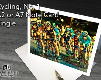 Cycling Card, Birthday Card for Cyclist, Bicycle Racing Card, Sports Cards for Guys, Birthday Card Bicyclist, Road Racing Card Bike Rider