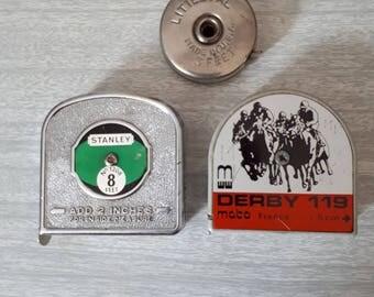 3 Vintage Tape Measures Little Pal Stanley