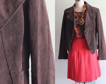 Vintage Anne Klein Brown Suede Jacket Size Large