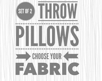 Throw Pillow Case Set. Set of Pillow Cases. Throw Pillow Cases. Set of 2 Pillow Cases.