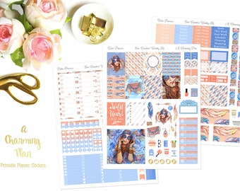 Boho Princess - Printable Planner Stickers - Instant Download