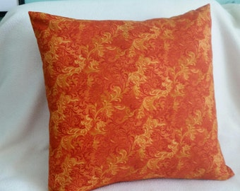 Orange and Gold Pillow Cover - Swappillow Covers - Envelope Closure - Decorative Cover- 16x16 - Throw Pillow - Home Decor