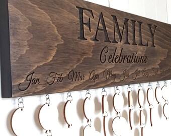 Family Celebrations Board, Family Birthdays Board, Anniversaries Board, Family Calendar, Birthday Gift, Anniversary Gift