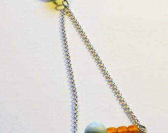 Extra Long Necklace in Neon Circus