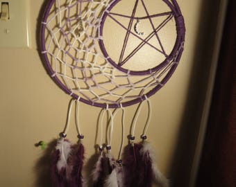 Purple moon rising dreamcatcher