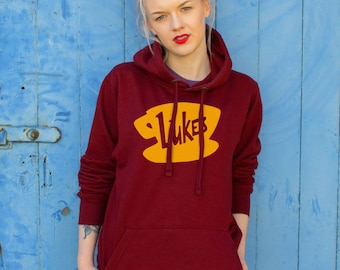 Luke's Diner, Gilmore Girls Design | Burgundy Hoodie