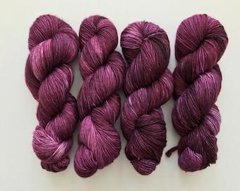 Huckleberry on Standard Sock Handdyed Yarn