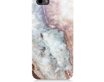 iPhone - Samsung Galaxy - Natural Wood - UV Print Cell Phone Case - Marble - High quality Cherry Wood-Designed and Printed in USA