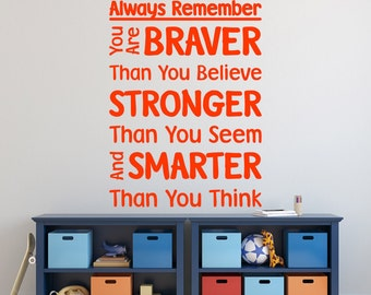 Always Remember Wall Sticker Pooh Quote Bedroom Decal Positive Vinyl Gift
