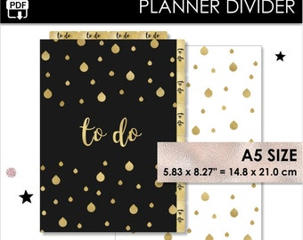 To Do A5 Size Planner Divider Gold Filofax A5 Websters Pages A5 Kikki K Large Inserts Pdf Download PRINTABLE