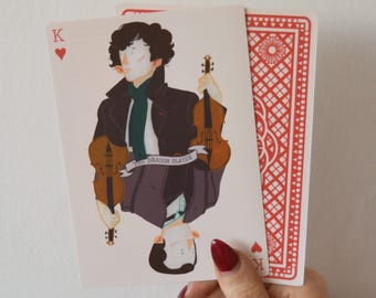 8x Sherlock Themed Playing Cards
