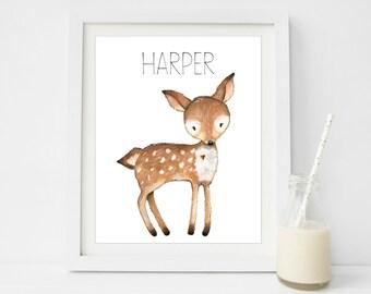 Woodland Baby Shower Decorations, Woodland Printables, Deer Baby Shower Decorations, Personalised Baby Signs, Deer Nursery Art, Deer Print