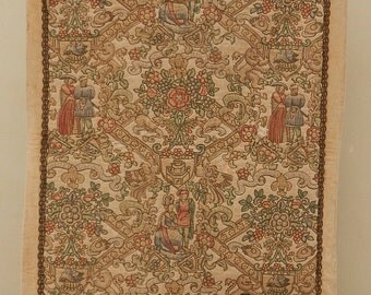 Vintage French Beautiful Tapestry (235)