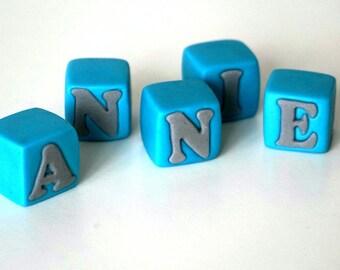 Small fondant baby blocks, fondant name, blocks with name,  custom name cake topper, christening, baby shower, first birthday, unique gift