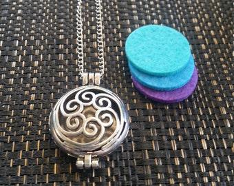 Silver Oil Diffuser Pendants - 6 designs