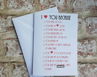 i love you card, anniversary card, love card, funny card, valentines day card, card for boyfriend, funny anniversary, funny love card,