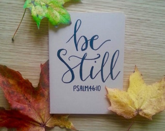 Customised Calligraphy Brown Notebook - Be Still