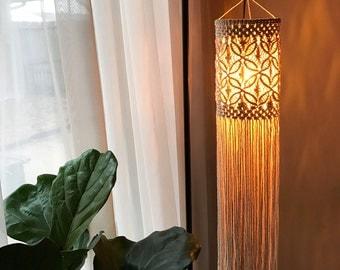 Modern Macrame Boho Lantern / Mobile / Wall Hanging Made to Order