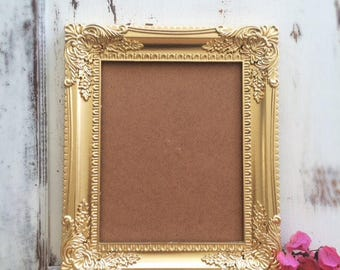 8x10, Gold, Vintage Style, Baroque Picture Frame, Shabby Chic, Ornate, Photo, Wedding Sign, Nursery, Home, Wall Decor