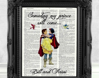 Snow White Disney Princess Art Print Engagement Gift Girlfriend Gift Anniversary Girlfriend Gift Disney Print Disney Wedding Snow White  134