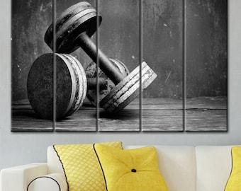 Gym Wall Art, Sports Wall Art, Fitness Wall Art, Crossfit Decor, Motivational Art, Gym Decor, Fitness Decor, Crossfit Print, art barbells