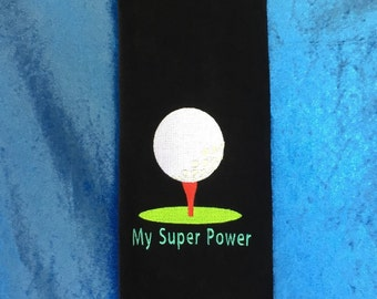 Golf Towel Embroidered – Sport, BBQ, Personalise