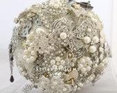 Silver Sparkle Wedding Brooch Bouquet