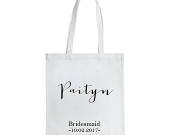 Personalized Bridal Tote Bag, Bridesmaid Tote Bag, Maid of Honor Tote Bag, Wedding Party Tote Bags Bridesmaid Gift, Bridal Party Totes