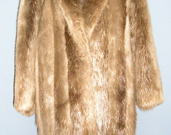Vintage Nigbor Furs beaver fur coat medium lush and soft MINT condition