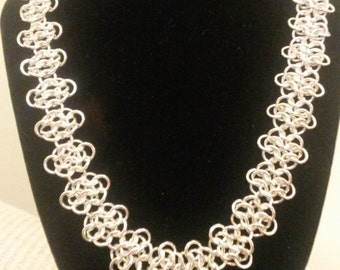 Sterling Silver European 4 in 1 Chainmaille Necklace