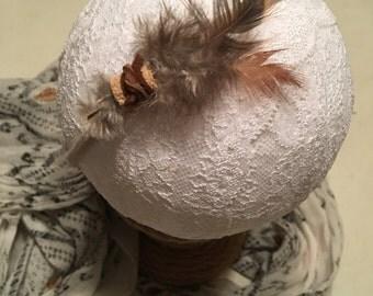 Feather headband, Baby Headbands, Baby Bow Headband, Baby Girl Headbands, Nylon Headband, Fabric Hair Bows, boho bows, newborn hair bows