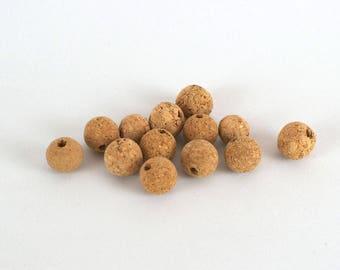 Agglomerated cork beads / cork balls 10 units