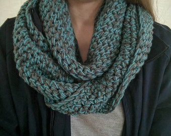 Blue and Grey Infinity Scarf