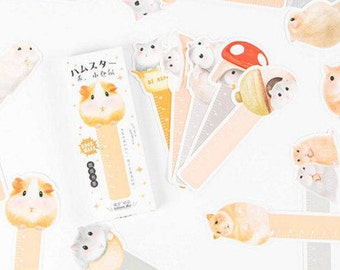SALE ! 30 Pcs Hamster bookmarks,Hamster rulers in 1 box