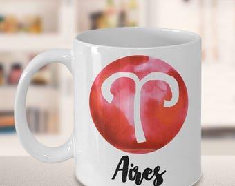 Aires Mug - Aires Gifts - Zodiac Mug - Horoscope Coffee Mug - Birthday Mug - Astrology Gift - Metaphysical, Celestial, Astrology, Horoscopes