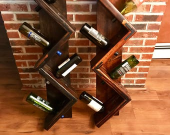 wall mounted wine rack zig zag wine rack wood wine rack rustic wine