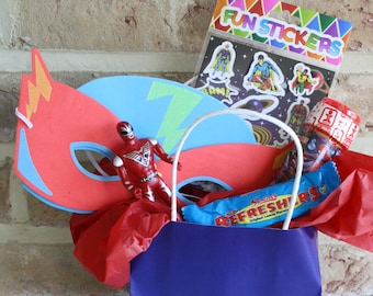 Kids' Party Bag and Fillers - Superhero themed.