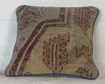 Turkish Carpet Pillow, 14x14 Pillow Case