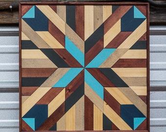 Geometric Reclaimed Wood Wall Art, Barn Wood Decor, Wood Wall Decor, Barn Wood Decor, Farmhouse Decor, Boho, Lath Wall Art