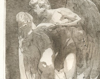 "Original Etching ""Immortal Love"""