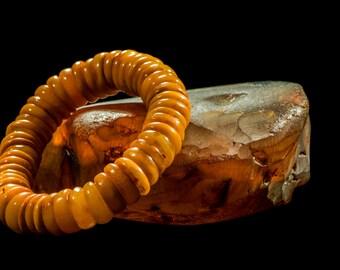 """Amber Bracelet """"Antique Coins"""""""