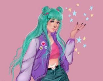 Pastel Sailor Moon
